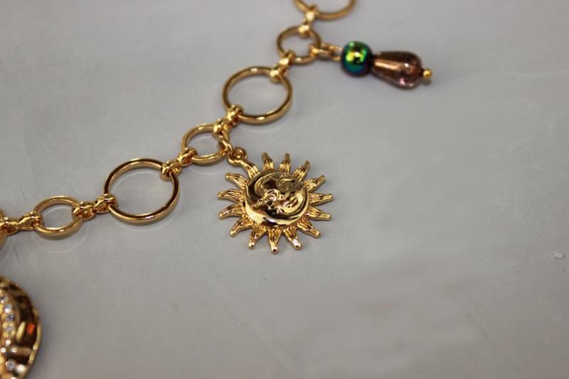 Колье-чокер с цепями, жемчугом и вышивкой Желтый Полозоченная Корейская фу Швайковская Оксана - фото 17
