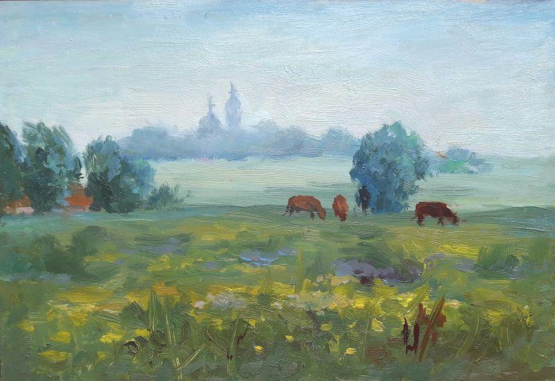 """На цветущей поляне""  холст,масло Сердюк Борис - фото 1"