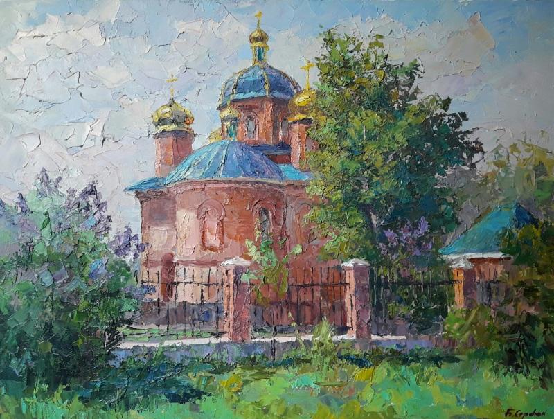 """""""Сирень цветет""""  холст, масло Сердюк Борис - фото 1"""