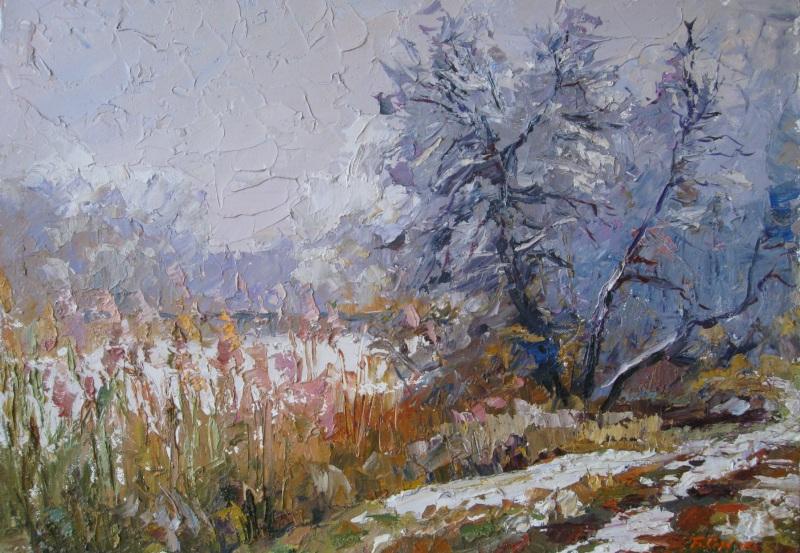 Дыхание зимы  картон, масло Сердюк Борис - фото 1