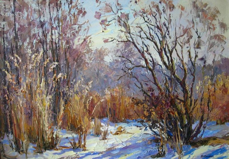 Зимняя сказка  холст, масло Сердюк Борис - фото 1