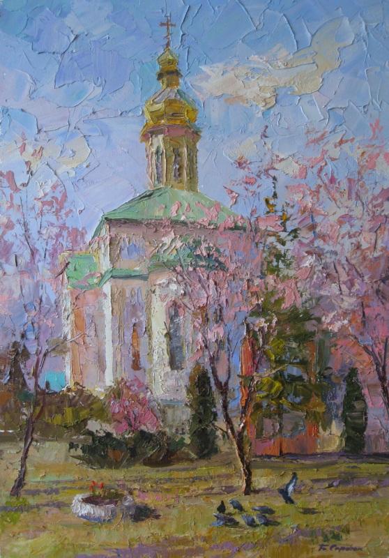 Спасо-Троицкая церковь  холст, масло Сердюк Борис - фото 1