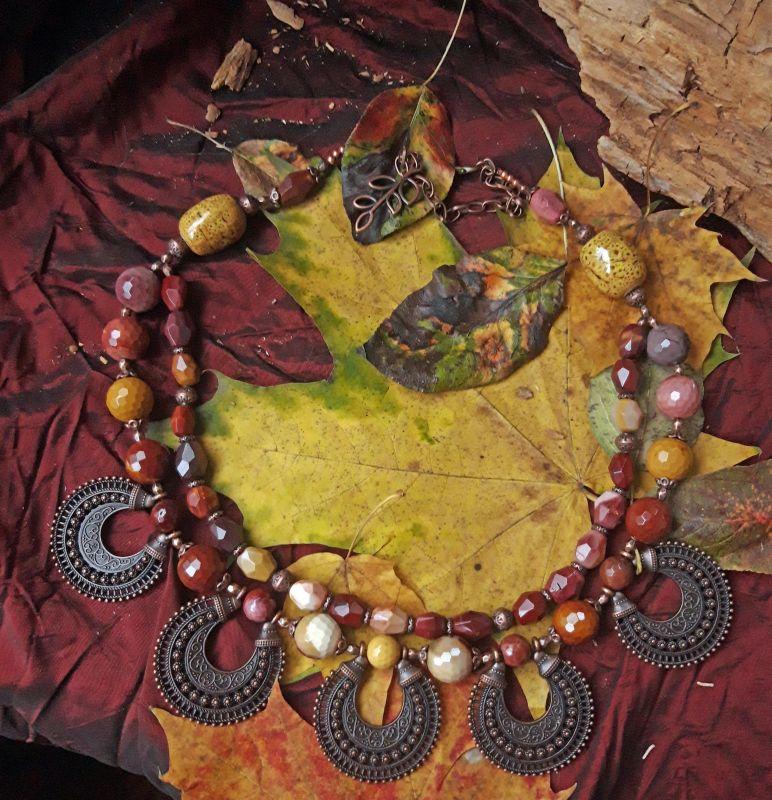 Мольфарка Разноцветный керамика, яшма мукоит, ме Скыба Елена - фото 1