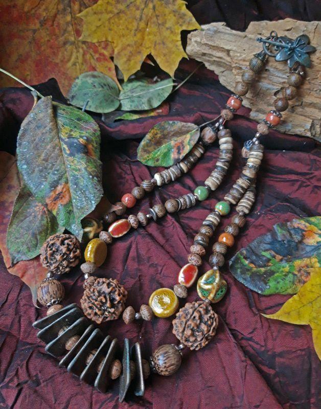 Орешки для Золушки Разноцветный керамика, деревянныеи кок Скыба Елена - фото 1