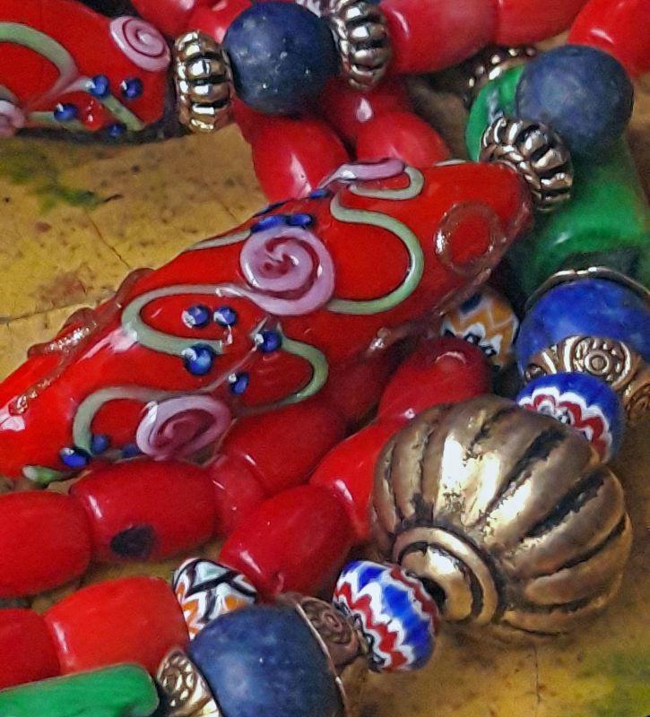 Разнобарвье Красный коралл, муранское стекло, Скыба Елена - фото 2