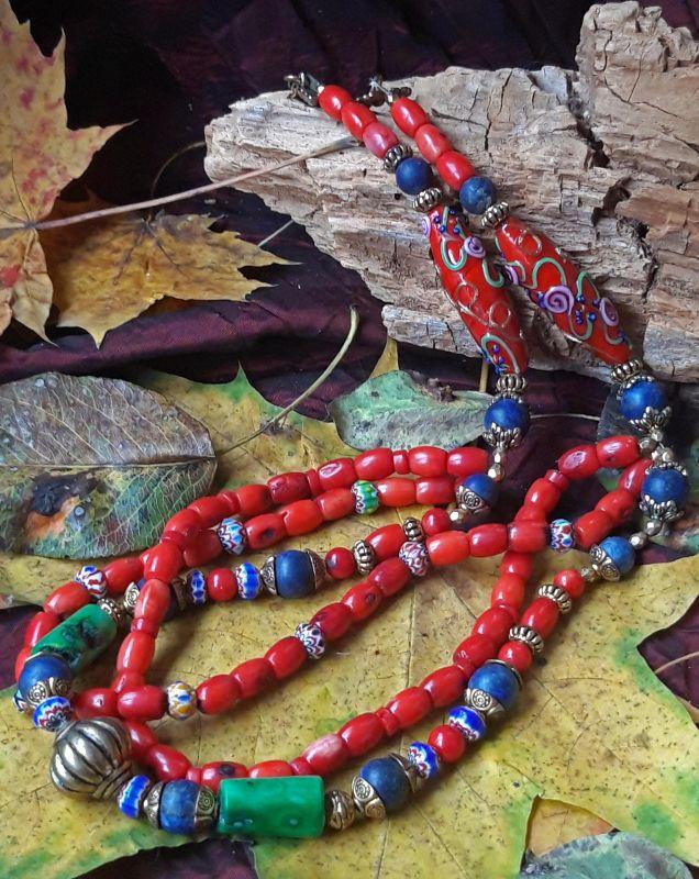 Разнобарвье Красный коралл, муранское стекло, Скыба Елена - фото 1