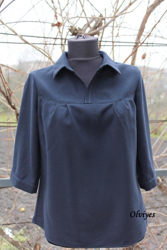 Блуза Черный шерсть с полиэстером Снеда Ольга - фото 1