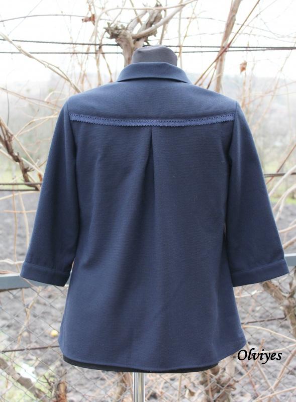 Блуза Черный шерсть с полиэстером Снеда Ольга - фото 2