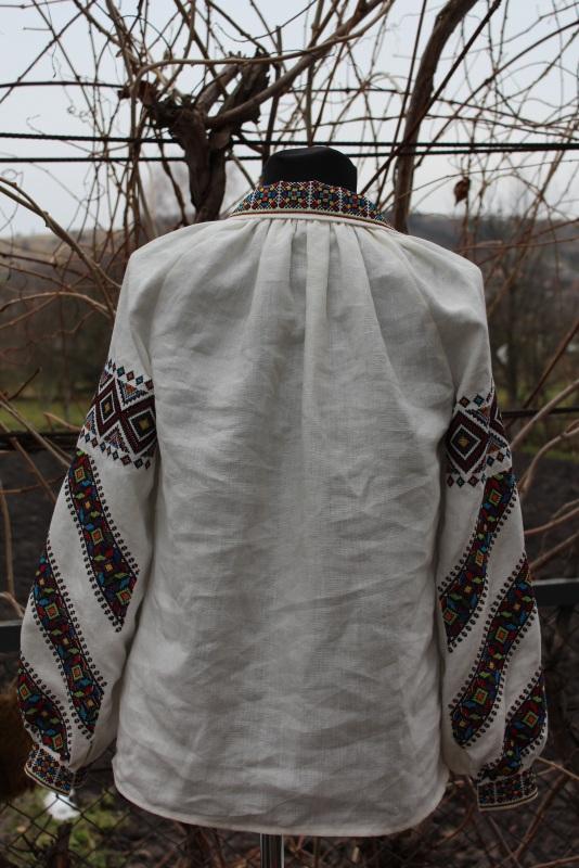 Вышиванка Белый 100% лен Снеда Ольга - фото 3