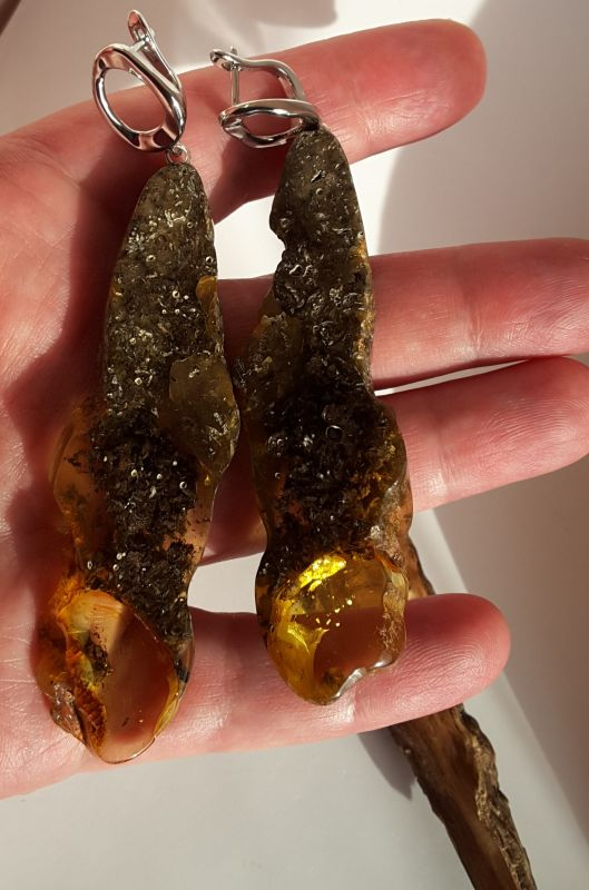Серьги из янтаря  Янтарь натуральный, родир Сокольчук Елена - фото 2