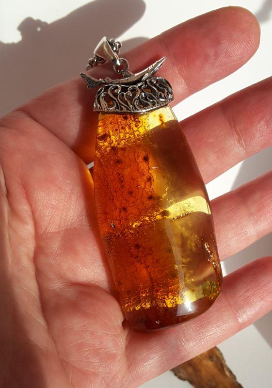 Кулон из натурального янтаря  Янтарь натуральный, сереб Сокольчук Елена - фото 4
