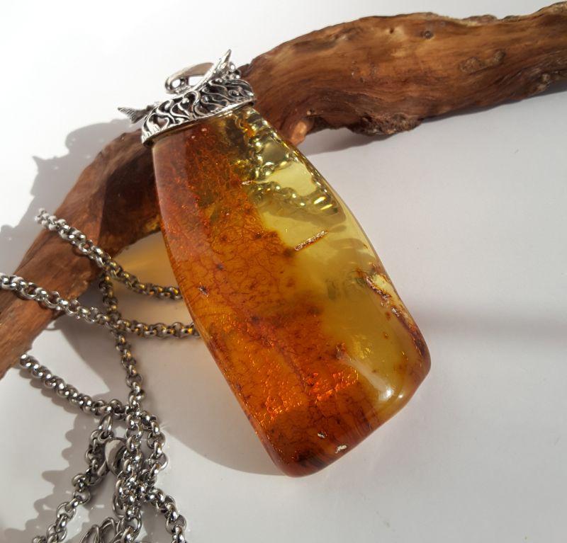 Кулон из натурального янтаря  Янтарь натуральный, сереб Сокольчук Елена - фото 2