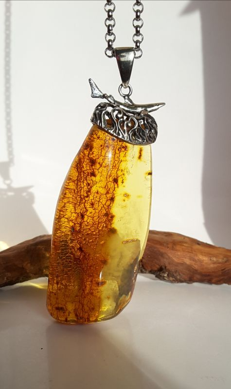 Кулон из натурального янтаря  Янтарь натуральный, сереб Сокольчук Елена - фото 3