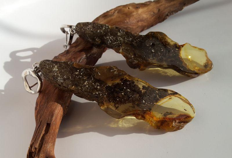 Серьги из янтаря  Янтарь натуральный, родир Сокольчук Елена - фото 3