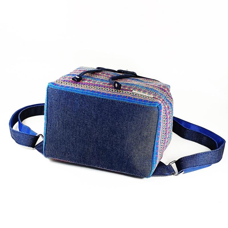 Великий рюкзак з гобелену та джинсу Синій • Матеріал верху: гобелен Соколова Світлана - фото 3