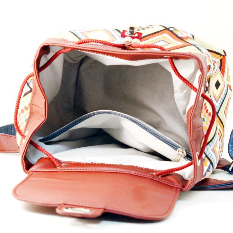 Рюкзак з гобелену та екошкіри  Червоний • Матеріал верху: гобелен Соколова Світлана - фото 5