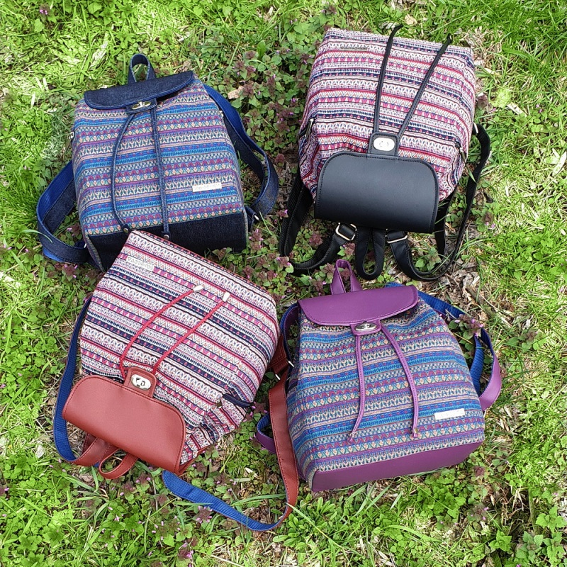 Рюкзак з гобелену та єкошкіри фуксія Фіолетовий • Матеріал верху: гобелен Соколова Світлана - фото 5