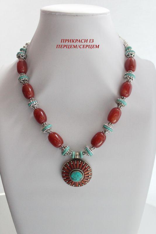 Цинамоновое небо Красный (Агат, говлит, дармовис, Сёма Роксолана - фото 2