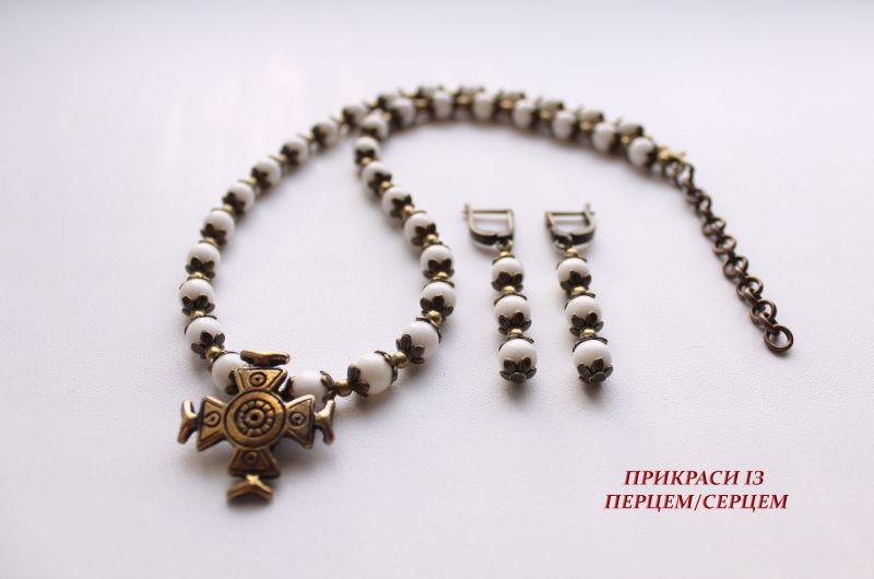Здесь был ангел  (Коралл, латунный крест р Сёма Роксолана - фото 5