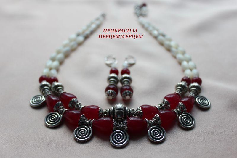 Ягодный мусс Красный (Халцедон, перламутр, вин Сёма Роксолана - фото 4