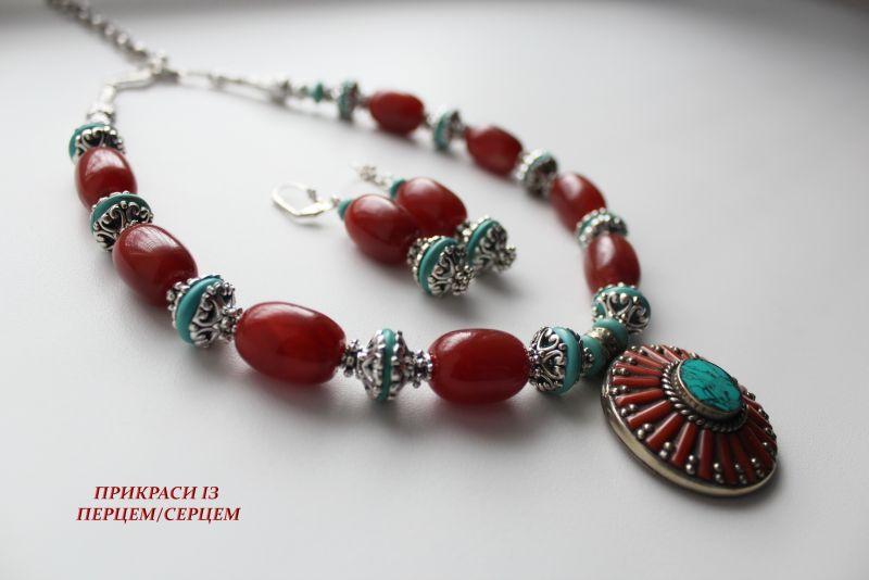 Цинамоновое небо Красный (Агат, говлит, дармовис, Сёма Роксолана - фото 5