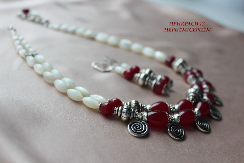 Ягодный мусс Красный (Халцедон, перламутр, вин Сёма Роксолана - фото 5