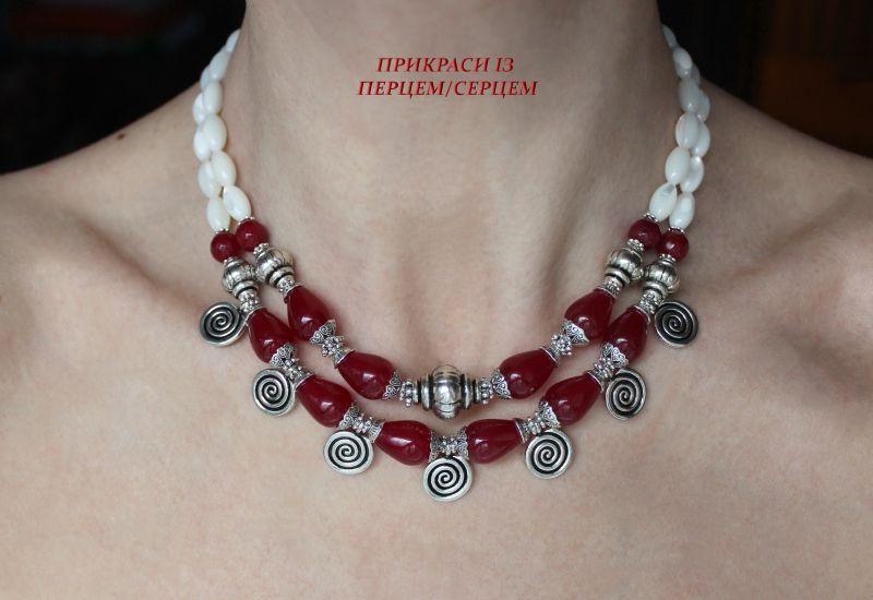 Ягодный мусс Красный (Халцедон, перламутр, вин Сёма Роксолана - фото 1