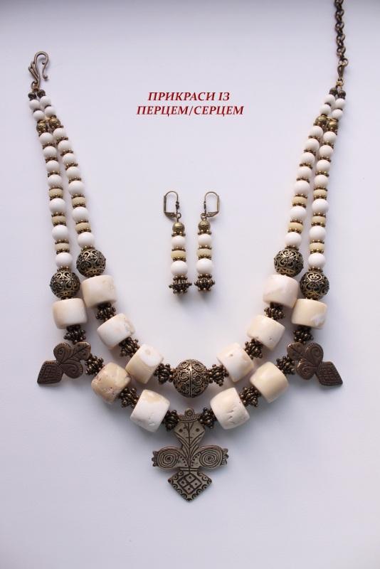 Мокоша  (Коралл, кость, авторские Сёма Роксолана - фото 4