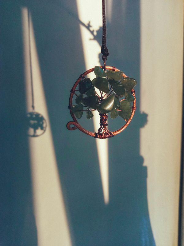 """Подвеска с нефритом """"Дерево"""" Зеленый натуральные камни: нефрит Творческая мастерская Рыбка - фото 2"""