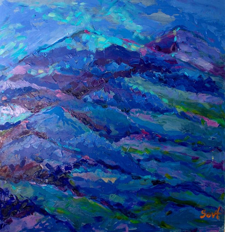 Горы мои веселенькие, горы мои милые  холст, масло Сова Галина - фото 1