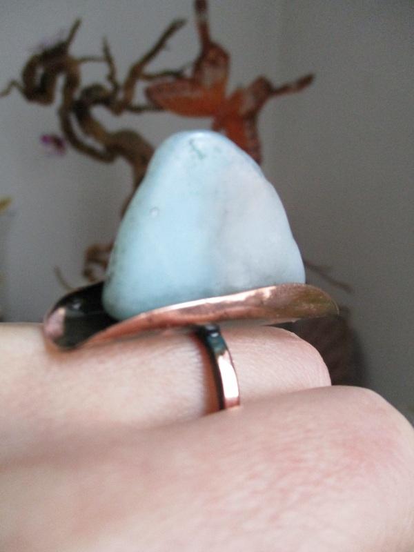 Кольцо Парус Голубой амазонит, медь Стадник Юлия - фото 2