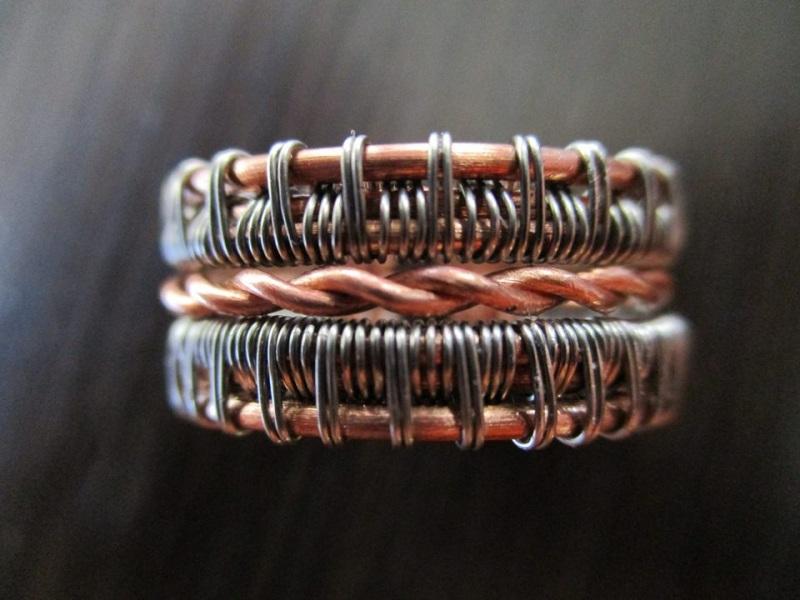 Кольцо  медь, сталь Стадник Юлия - фото 1