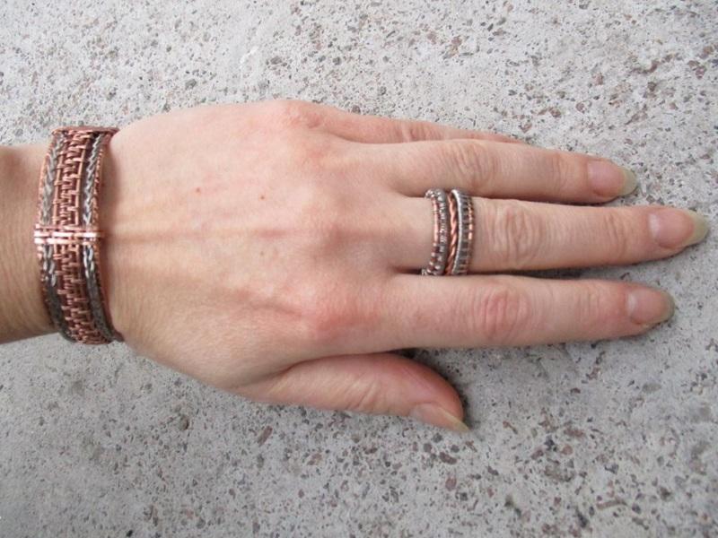 Кольцо  медь, сталь Стадник Юлия - фото 2