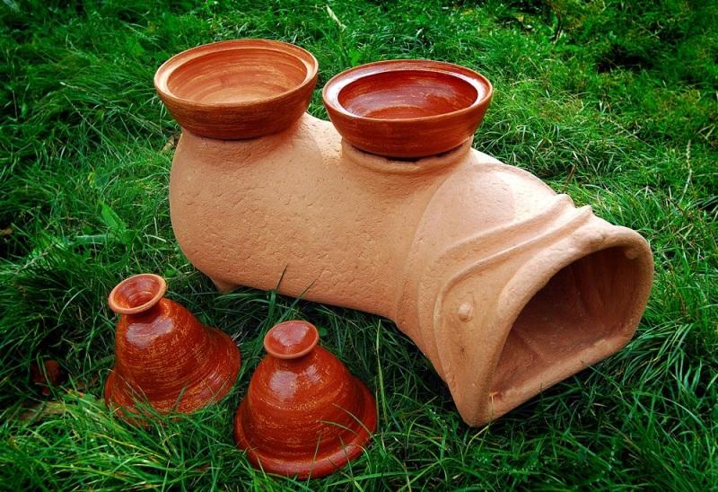 Садовая печь - скульптура Коричневый керамика Стаховский Дмитрий - фото 2