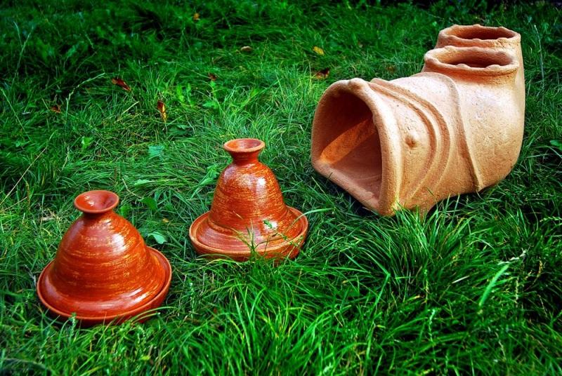 Садовая печь - скульптура Коричневый керамика Стаховский Дмитрий - фото 4