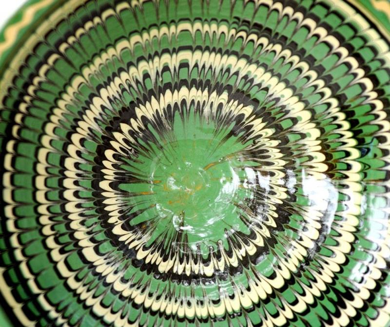 Миска авторская Зеленый глина, агнобы, полива Стаховский Дмитрий - фото 3