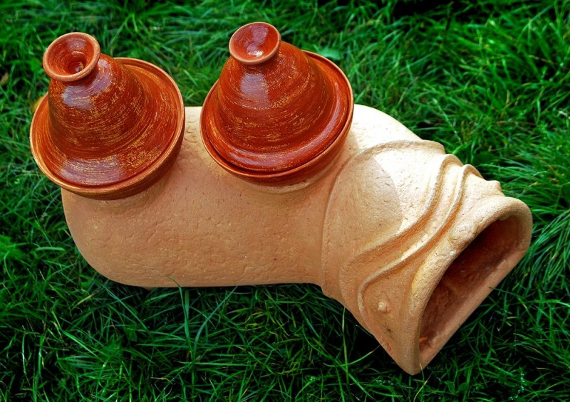 Садовая печь - скульптура Коричневый керамика Стаховский Дмитрий - фото 3
