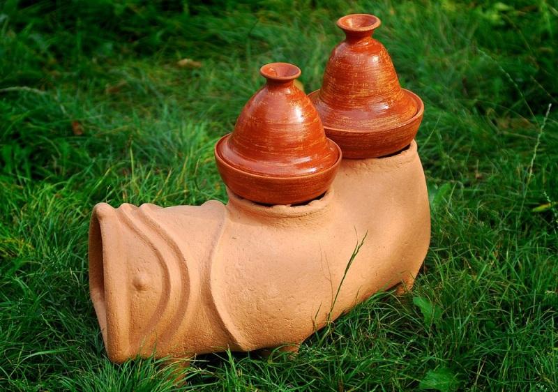 Садовая печь - скульптура Коричневый керамика Стаховский Дмитрий - фото 1