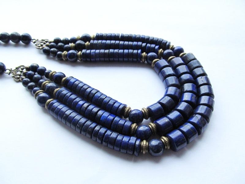 Ожерелье Синий Лазурит. Длина: 53 см Briolet Stone - фото 2