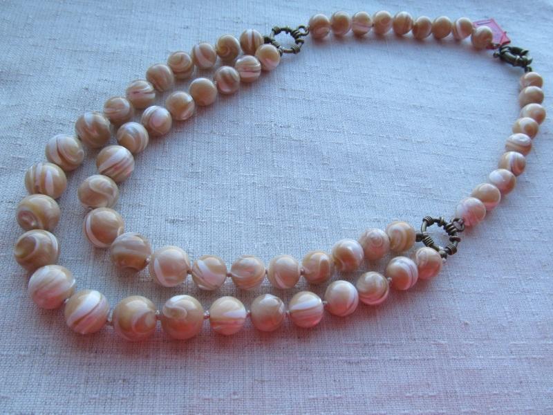 Ожерелье Оранжевый перламутр Briolet Stone - фото 1