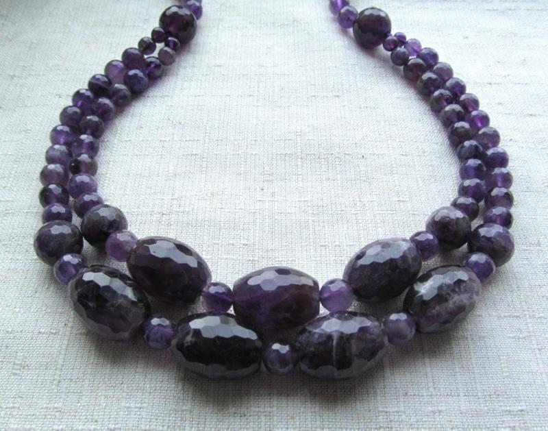 Ожерелье Фиолетовый Аметист, длина - 63 см Briolet Stone - фото 1