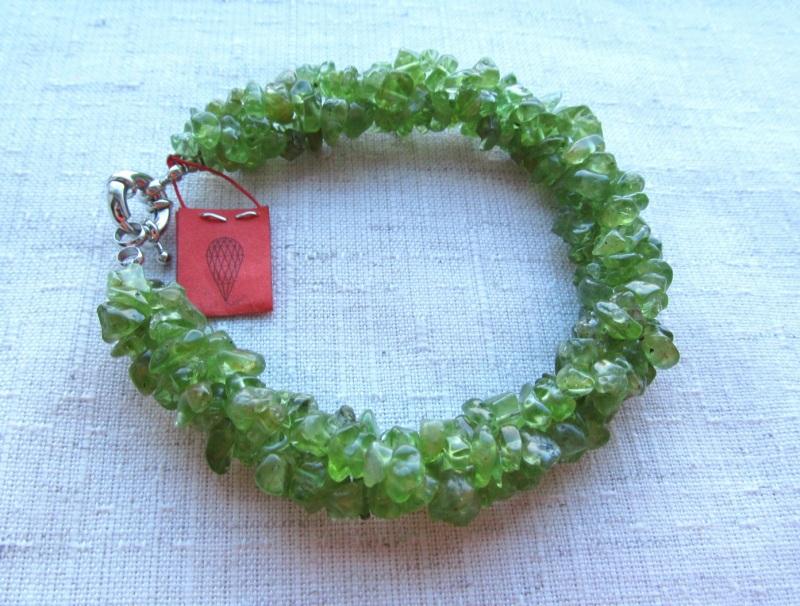 Набор украшений Хризолит Зеленый хризолит, длина колье - 4 Briolet Stone - фото 5