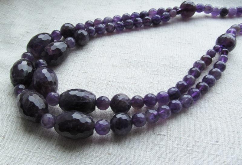 Ожерелье Фиолетовый Аметист, длина - 63 см Briolet Stone - фото 2
