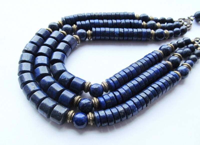 Ожерелье Синий Лазурит. Длина: 53 см Briolet Stone - фото 1