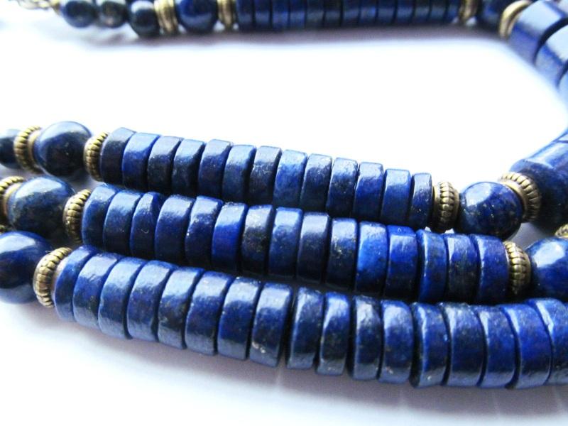 Ожерелье Синий Лазурит. Длина: 53 см Briolet Stone - фото 3