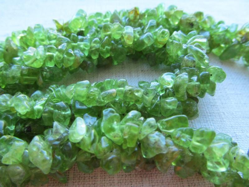 Набор украшений Хризолит Зеленый хризолит, длина колье - 4 Briolet Stone - фото 3
