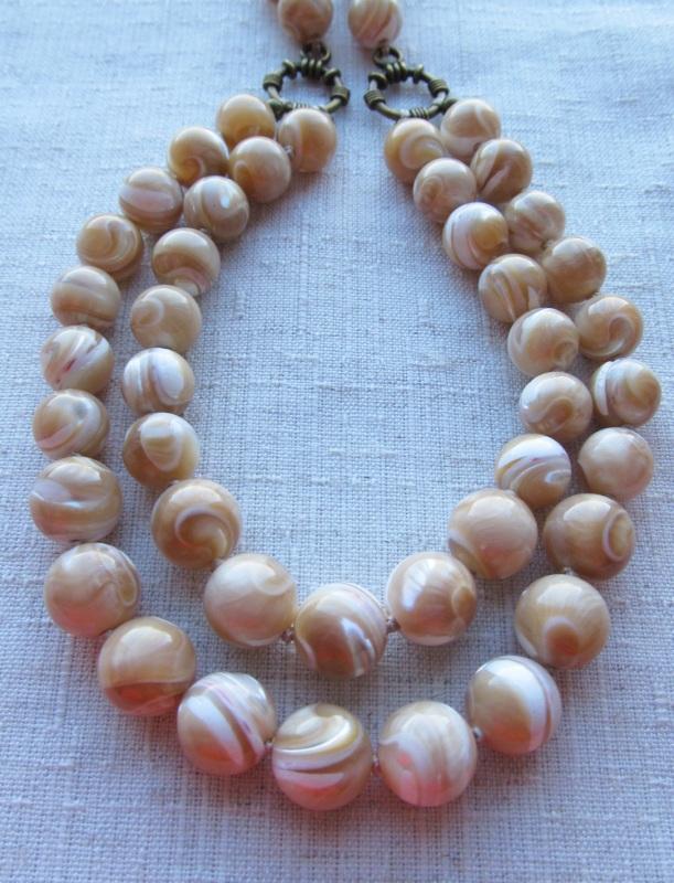 Ожерелье Оранжевый перламутр Briolet Stone - фото 2