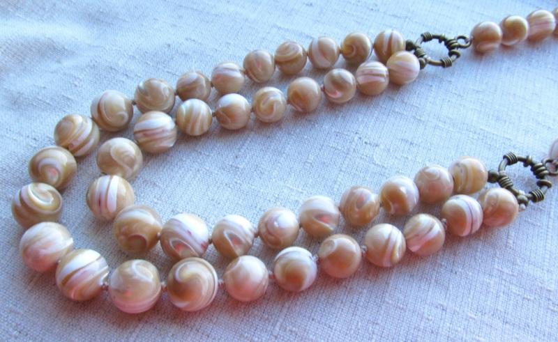 Ожерелье Оранжевый перламутр Briolet Stone - фото 3