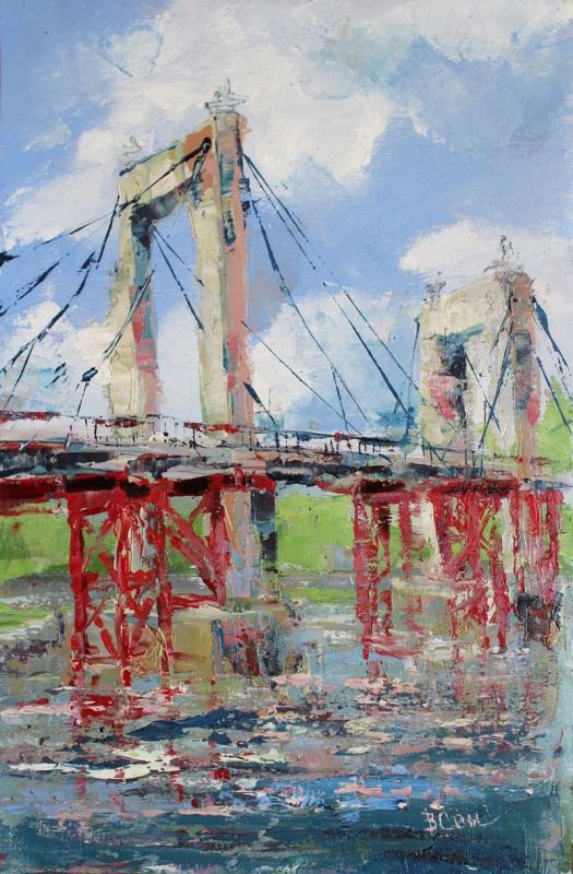Гаванский мост. Киев  холст на двп,масло, масти Суханова Виктория - фото 1