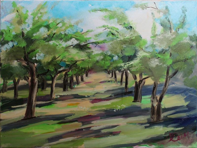 Яблоневый сад  холст, масло Суханова Виктория - фото 1